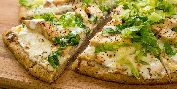 Chicken Caesar Pizza Recipe Image