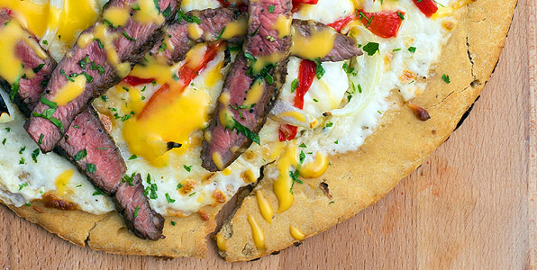 Philly Cheese Steak Pizza Recipe Image
